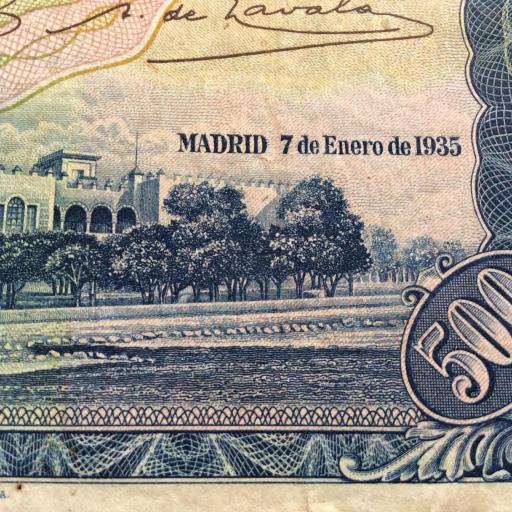 500 PESETAS 7 ENERO 1935 - II REPUBLICA - HERNÁN CORTÉS - ESCASO  [2]