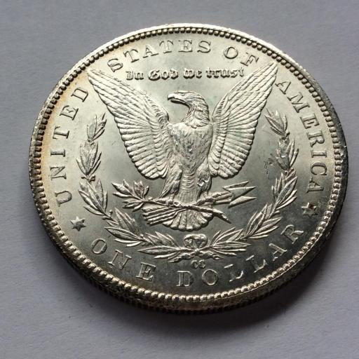 1 DOLAR MORGAN 1884  - PLATA -  Carson City - SIN CIRCULAR  [3]