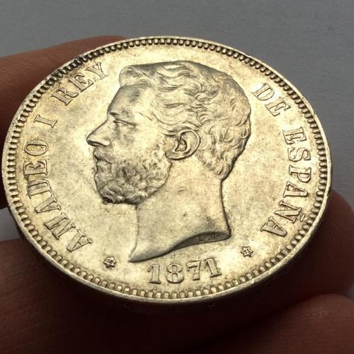5 PESETAS PLATA 1871 *18*71 - AMADEO I [2]