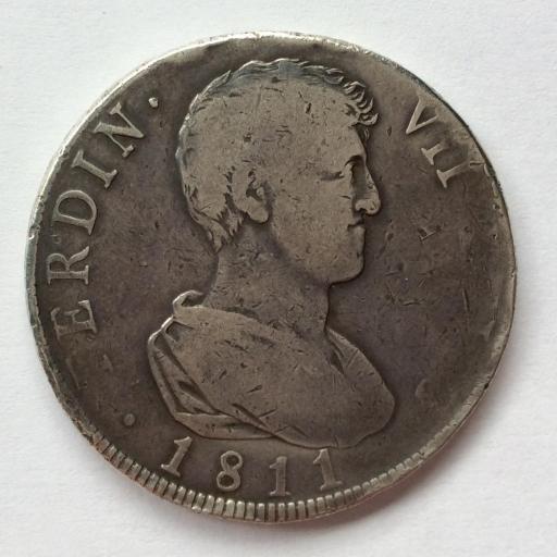 8 REALES PLATA 1811 - VSG - VALENCIA - FERNANDO VII