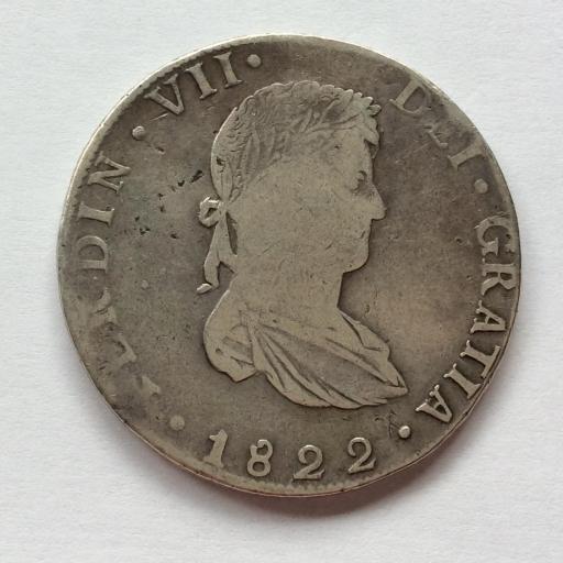 8 REALES PLATA 1822 - GUANAJUATO - FERNANDO VII