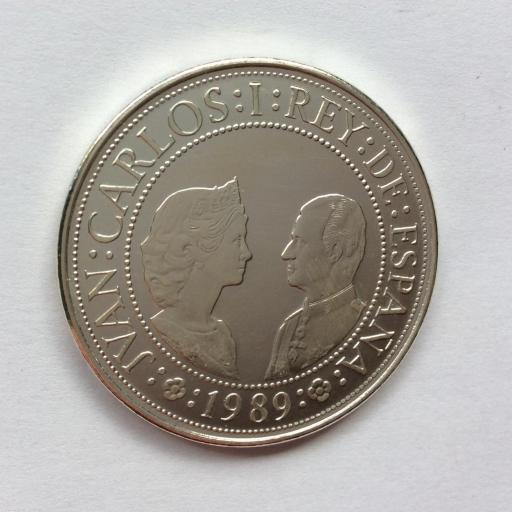 2000 PESETAS PLATA 1989 - FDC - JUAN CARLOS I  [1]
