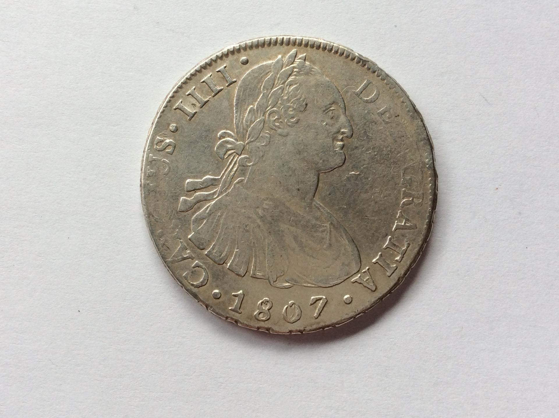 8 REALES PLATA 1807 - POTOSI - CARLOS IV