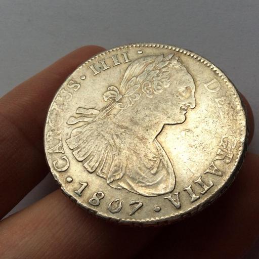 8 REALES PLATA 1807 - POTOSI - CARLOS IV  [1]