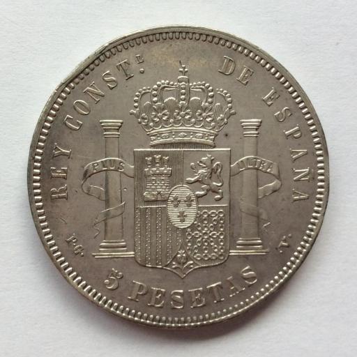 5 PESETAS PLATA 1894 - ALFONSO XIII  [1]