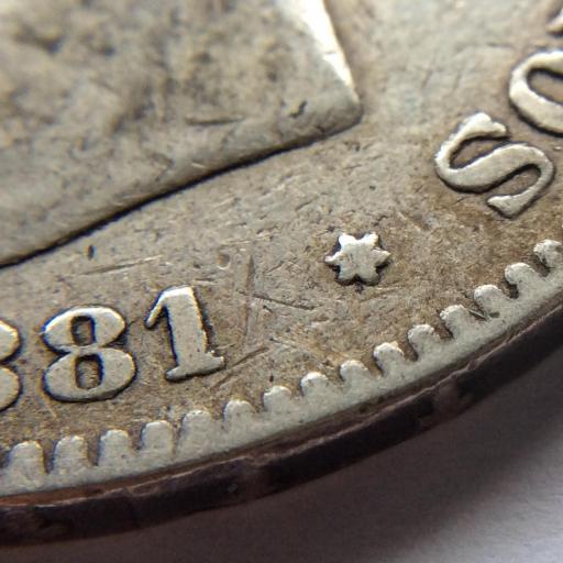 5 PESETAS 1881 *18 *79 - ALFONSO XII - VARIANTE MUY ESCASA  [2]