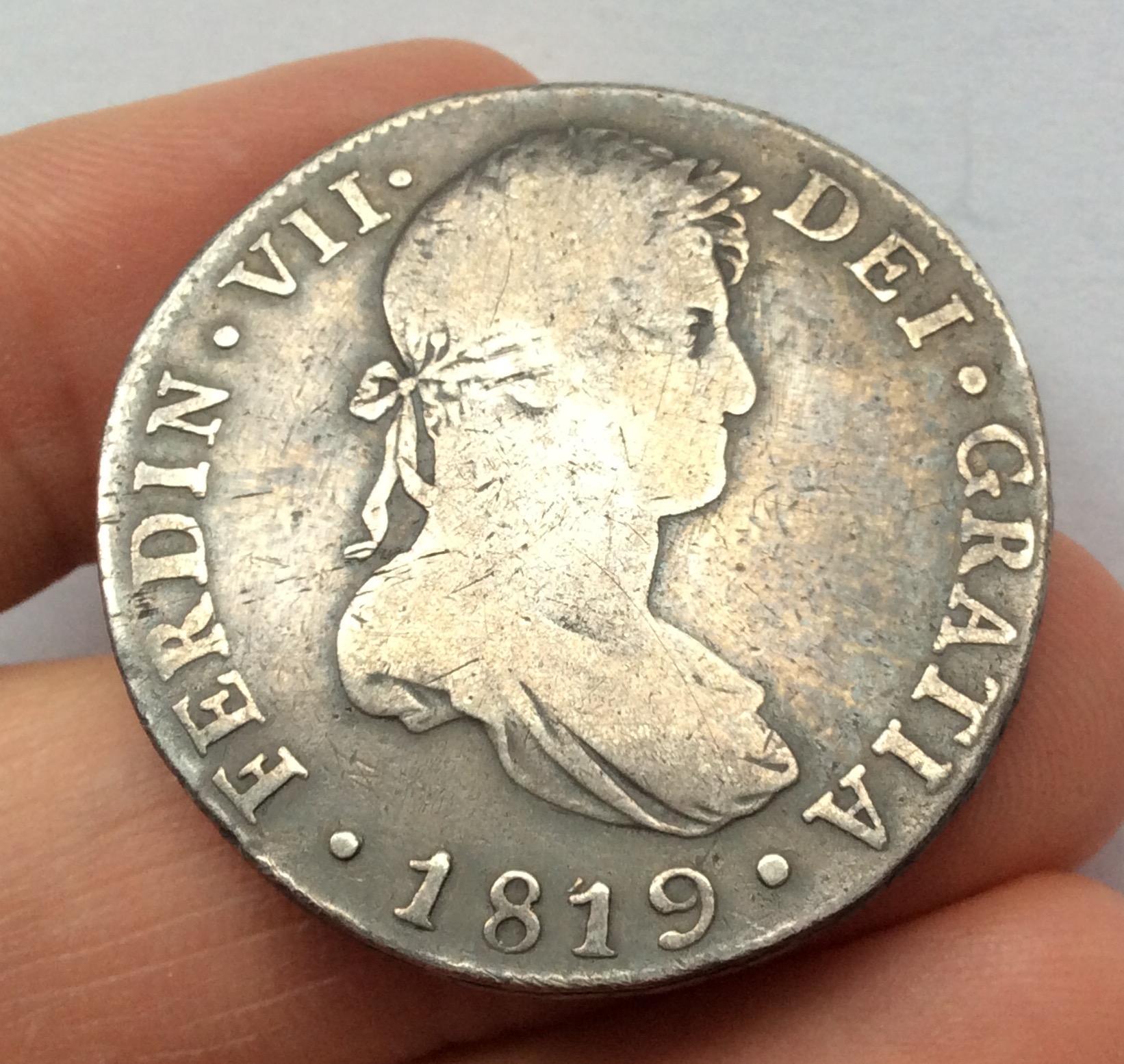 8 REALES 1819 - NUEVA GUATEMALA - FERNANDO VII