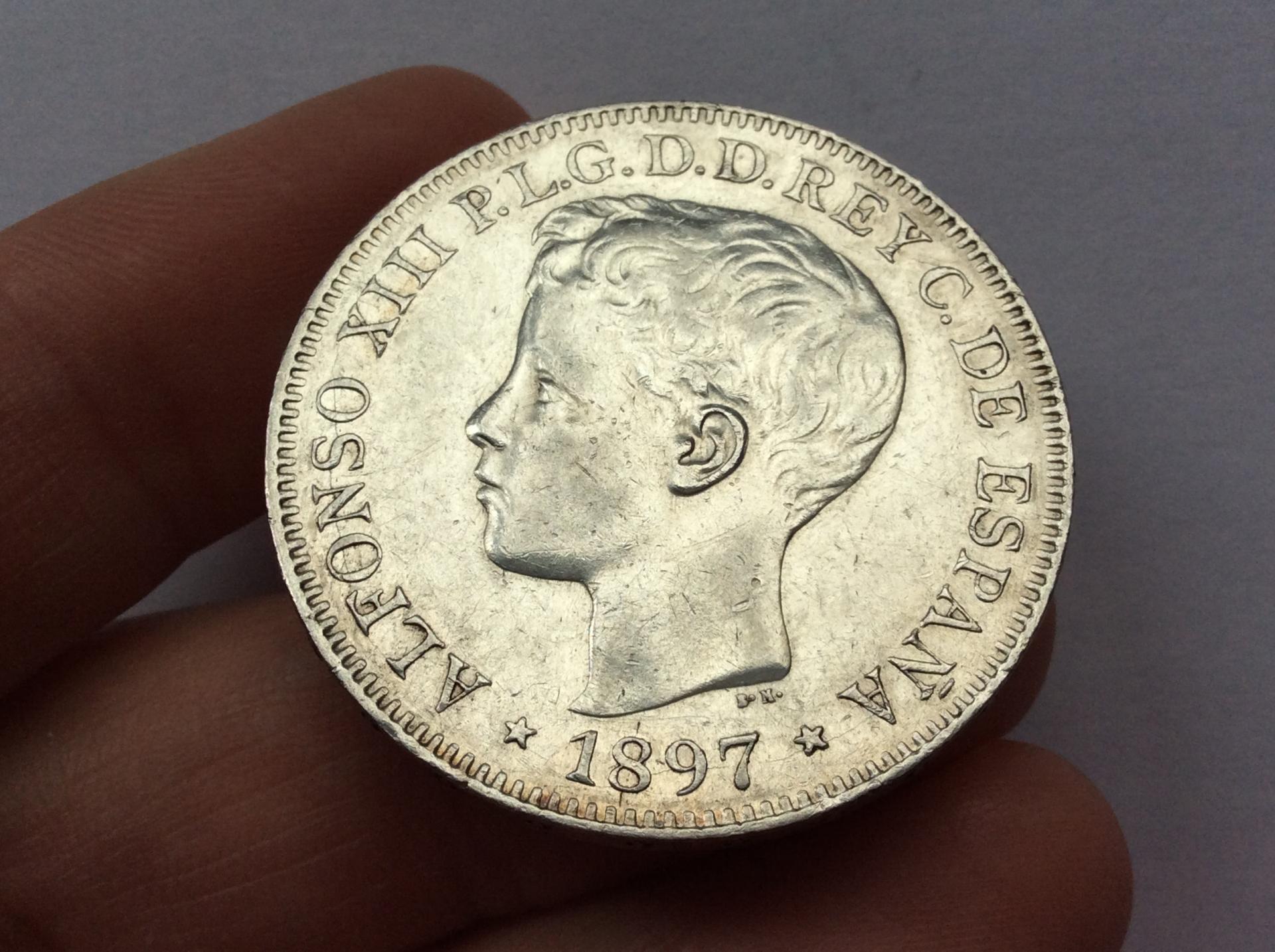 1 PESO PLATA 1897 - ISLAS FILIPINAS - ALFONSO XIII
