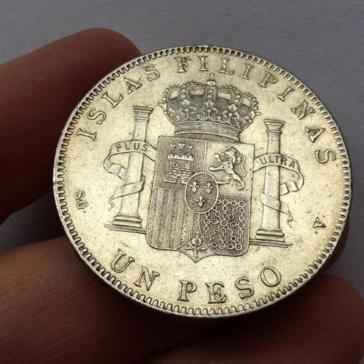 1 PESO PLATA 1897 - ISLAS FILIPINAS - ALFONSO XIII  [1]