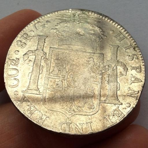 8 REALES PLATA 1824 - CUZCO - FERNANDO VII - MUY ESCASA  [1]