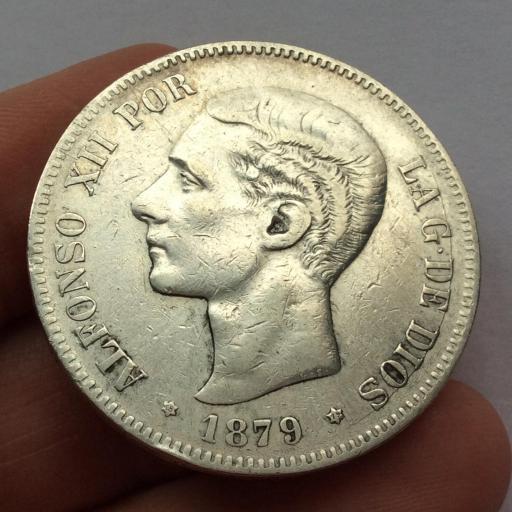 5 PESETAS 1879 *18*79 - ALFONSO XII