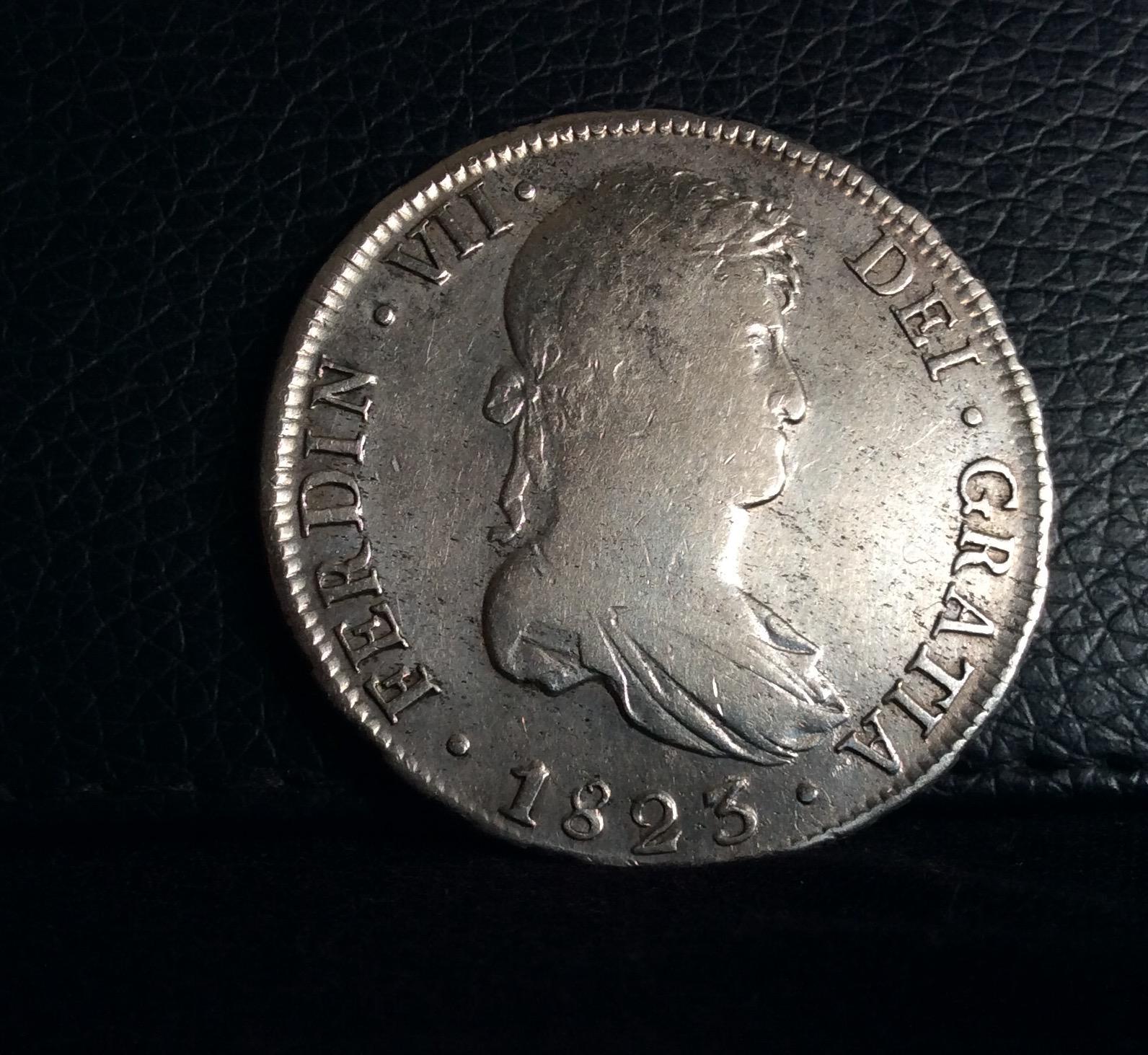 8 REALES 1823 - POTOSI - FERNANDO VII