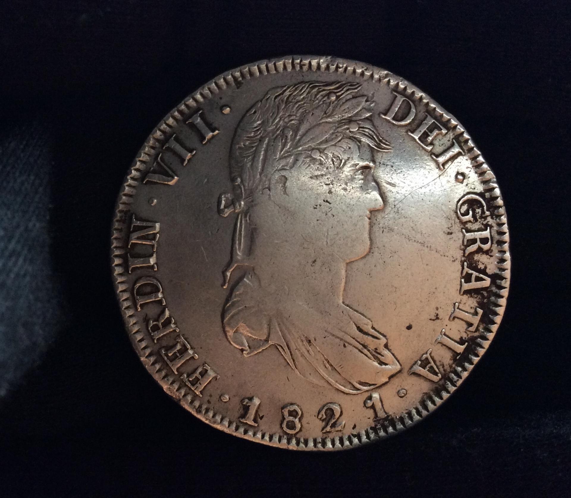 8 REALES 1821 - ZACATECAS - FERNANDO VII