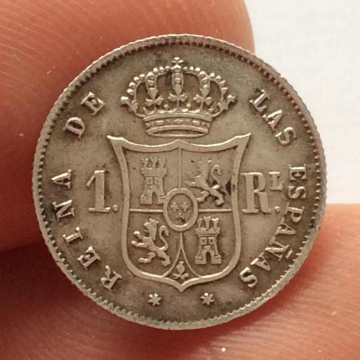 1 REAL PLATA 1852 - MADRID - ISABEL II [1]