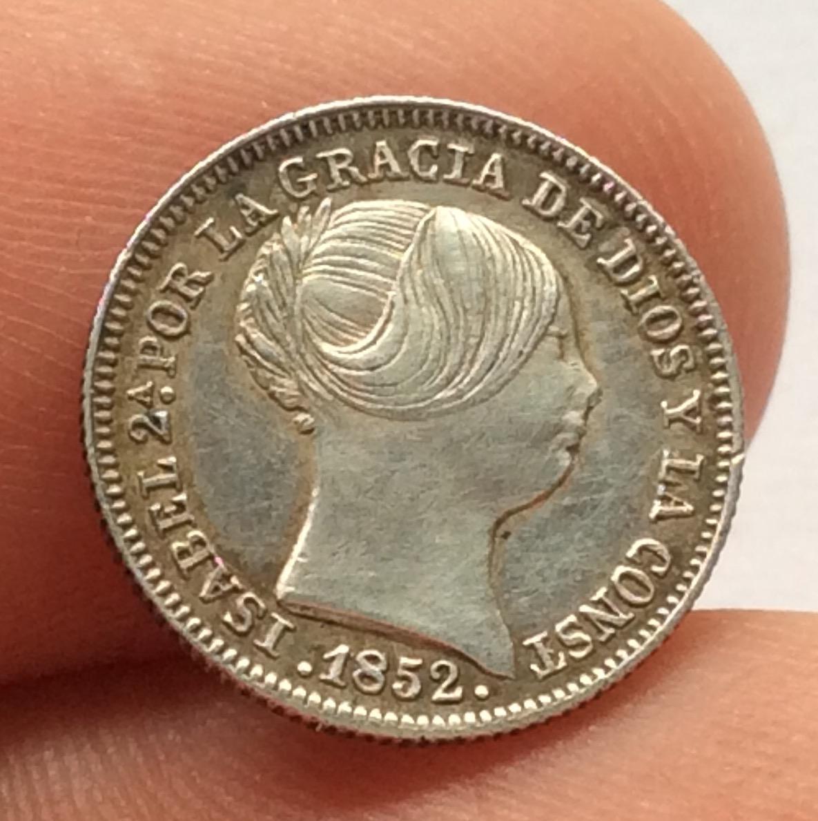 1 REAL PLATA 1852 - MADRID - ISABEL II