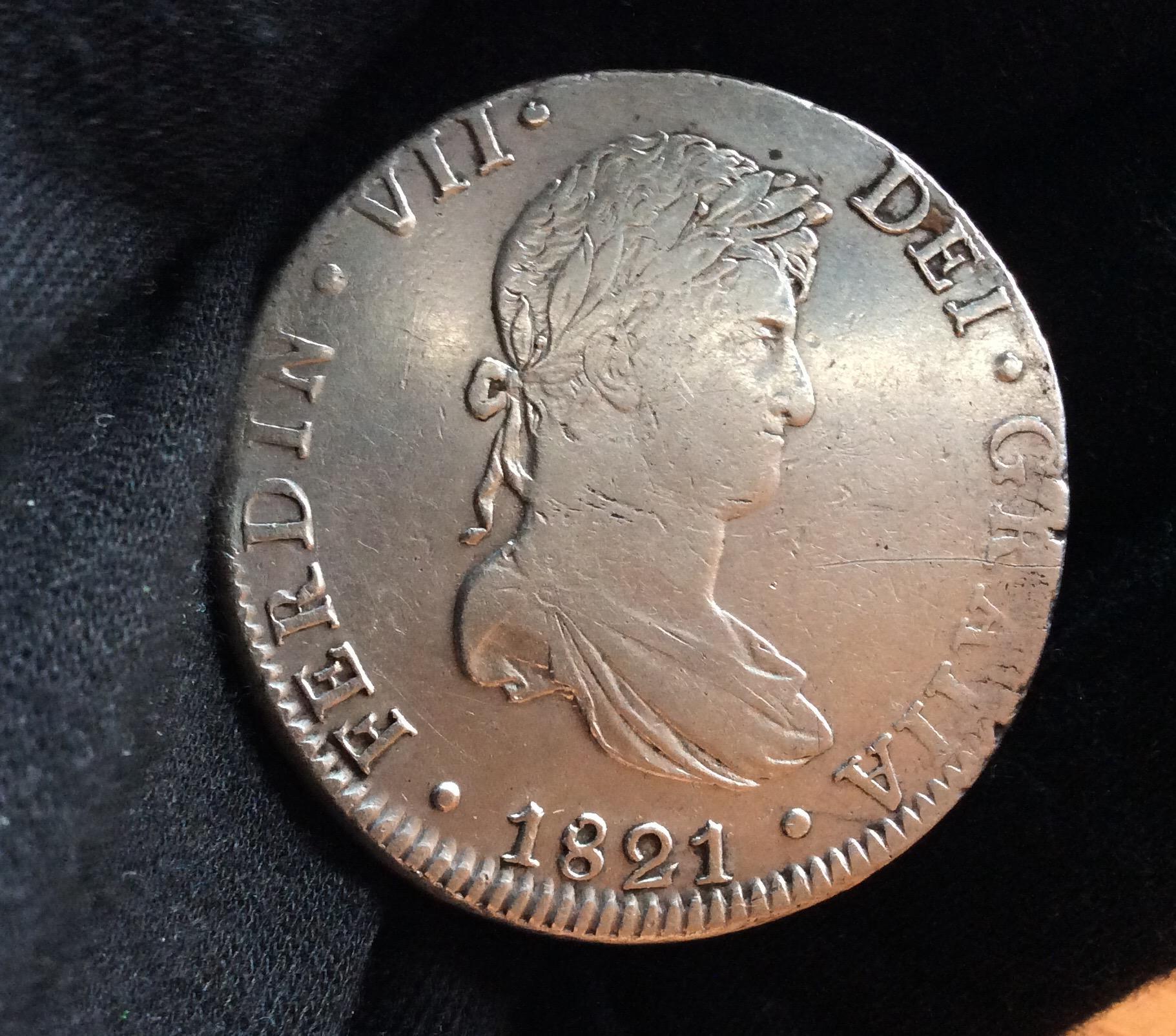 8 REALES 1821 - MÉXICO - FERNANDO VII