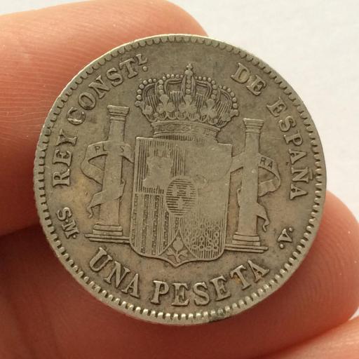 1 PESETA PLATA 1903 - ALFONSO XIII - SOLO CON 1 ESTRELLA - RARÍSIMA RRR [1]