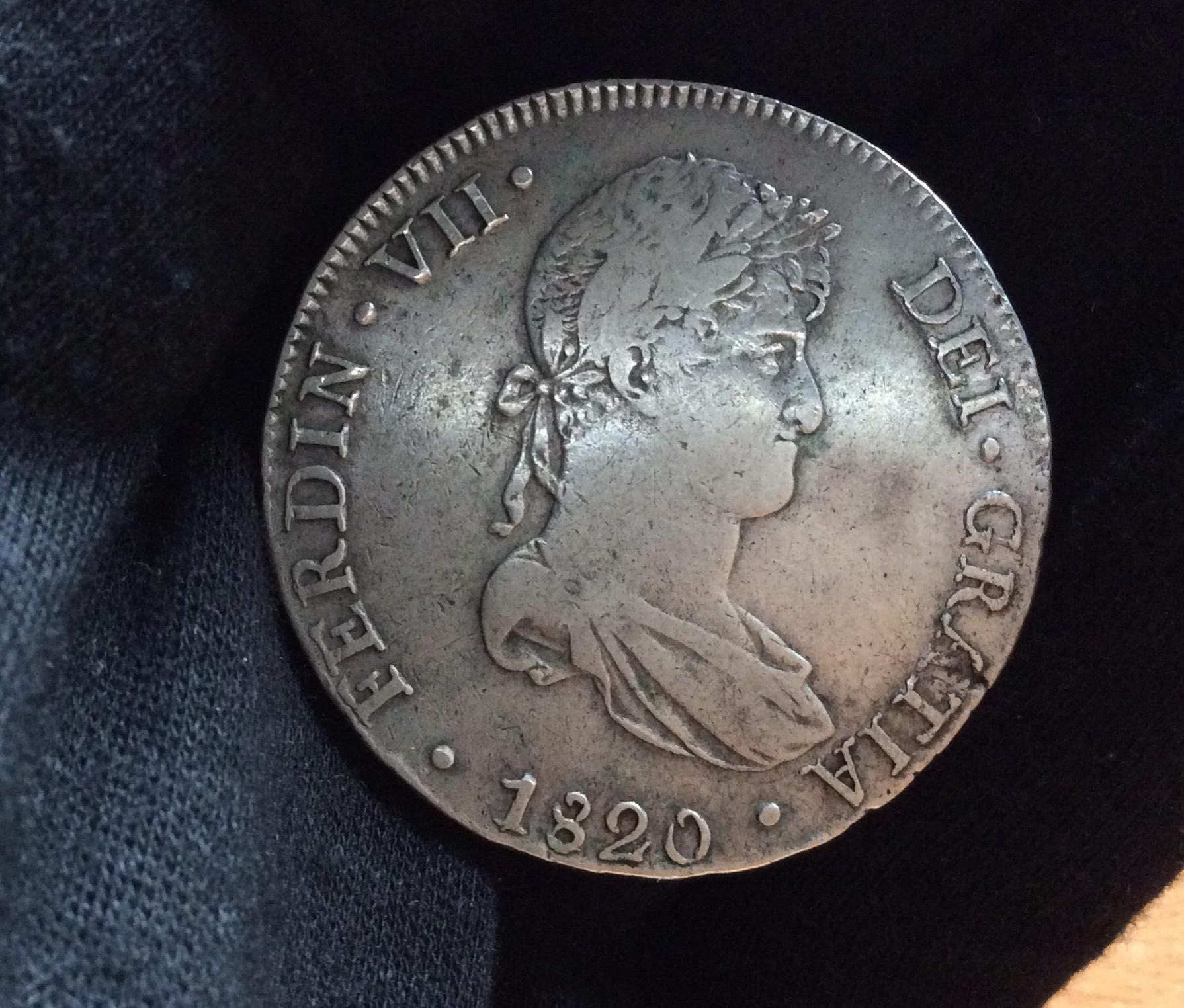 8 REALES 1820 - LIMA - FERNANDO VII