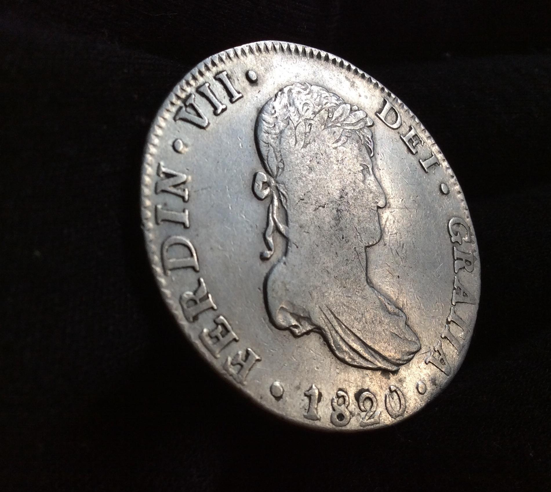 8 REALES 1820 - MÉXICO - FERNANDO VII