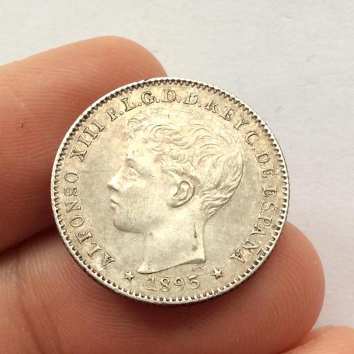 20 CENTAVOS DE PESO 1895 - PUERTO RICO - ALFONSO XIII