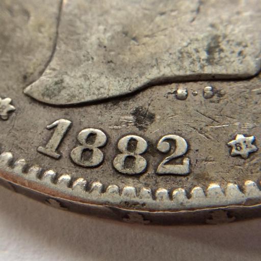 5 PESETAS 1882 *18 *81 - ALFONSO XII - VARIANTE DE ESTRELLA  [2]
