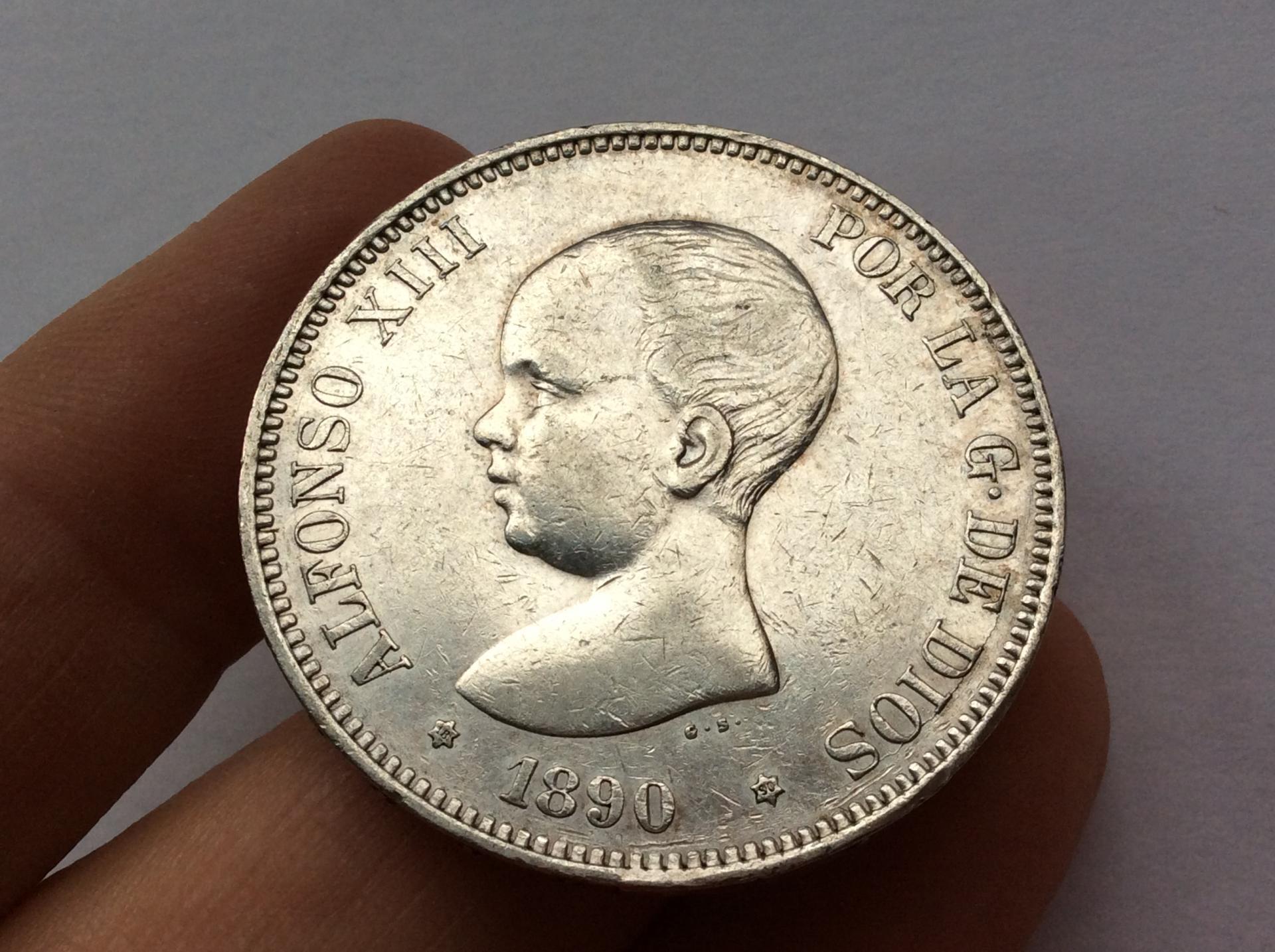 5 PESETAS 1890 - PGM - ALFONSO XIII