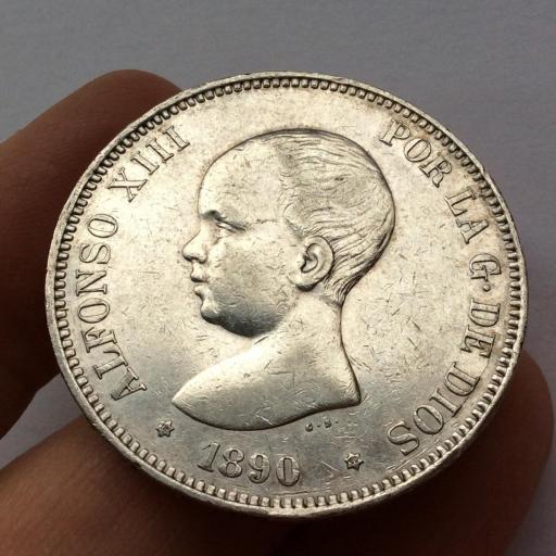 5 PESETAS 1890 - PGM - ALFONSO XIII  [0]