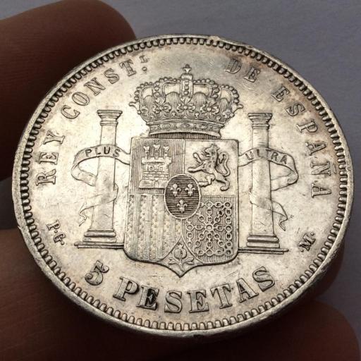 5 PESETAS 1890 - PGM - ALFONSO XIII  [1]
