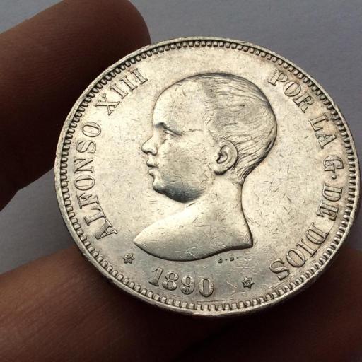 5 PESETAS 1890 - PGM - ALFONSO XIII  [2]