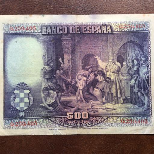 500 PESETAS 1928 - CARDENAL CISNEROS  [1]