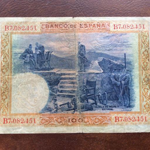 100 PESETAS 1925 - FELIPE II - MUY RARO CON 3 SELLOS EN SECO - MUY ESCASO (LEER) [1]