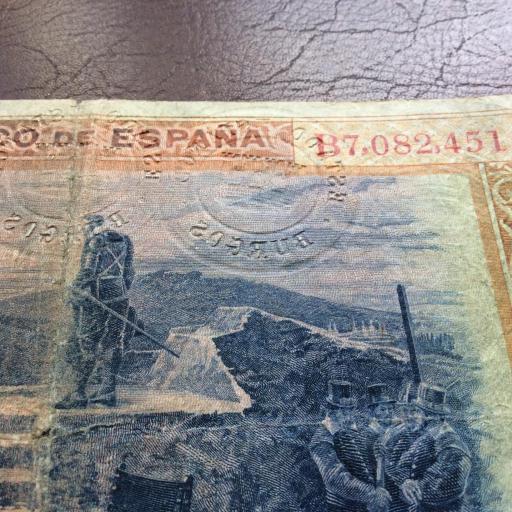 100 PESETAS 1925 - FELIPE II - MUY RARO CON 3 SELLOS EN SECO - MUY ESCASO (LEER) [3]