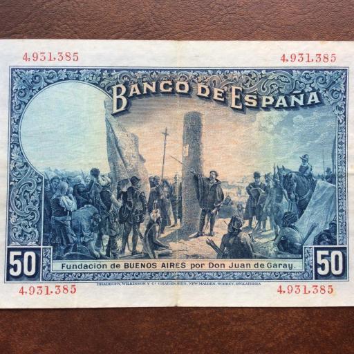 50 PESETAS 1927 - ALFONSO XIII - SIN RESELLO REPUBLICANO  [1]