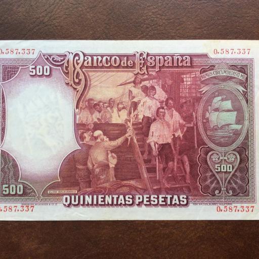 500 PESETAS 1931 - CASI SIN CIRCULAR - JUAN SEBASTIÁN DE ELCANO  [1]