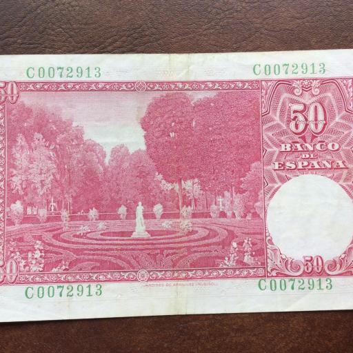 50 PESETAS 1951 - NÚMERO BAJO  [1]