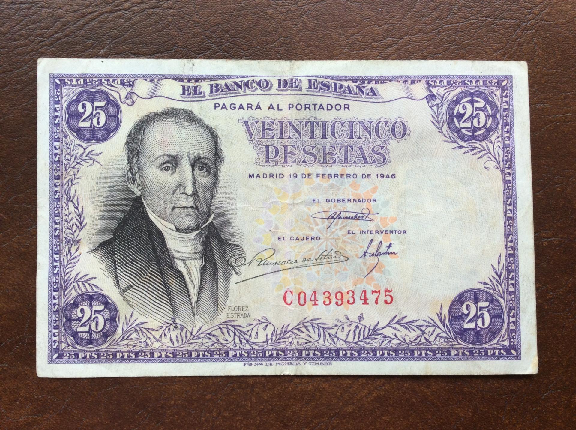 25 PESETAS 1946 - ESTADO ESPAÑOL