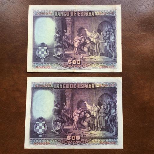 500 PESETAS 1928 - PAREJA CORRELATIVA  [1]