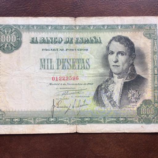 1000 PESETAS 1949