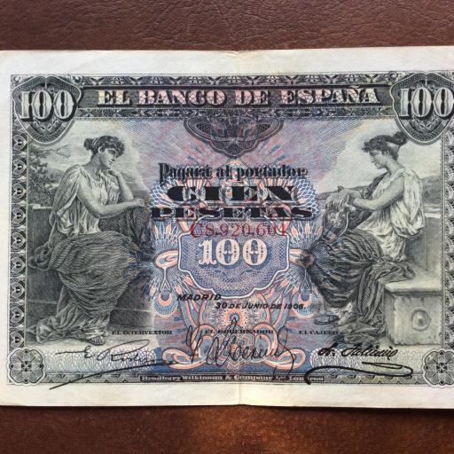 100 PESETAS 1906 - ALEGORÍAS - ALFONSO XIII