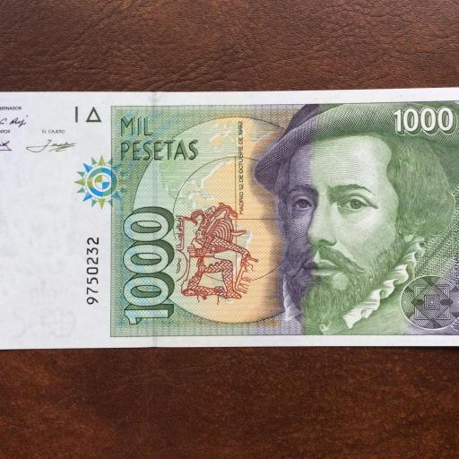 1000 PESETAS 1992 - SIN SERIE - SIN CIRCULAR