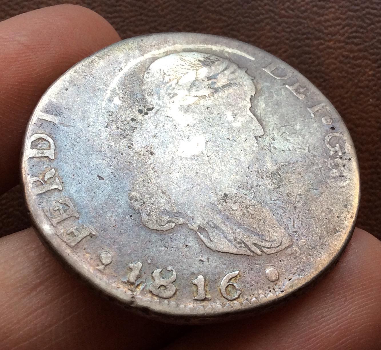 8 REALES PLATA 1816 - DURANGO MZ -  FERNANDO VII - MUY ESCASA