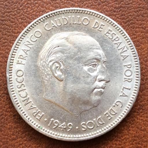 5 PESETAS 1949 *19*50 - ESTADO ESPAÑOL - FRANCO [1]
