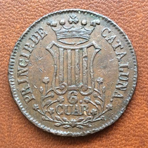 6 CUARTOS DE 1841 - ISABEL II - CECA DE BARCELONA  [2]