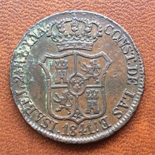 6 CUARTOS DE 1841 - ISABEL II - CECA DE BARCELONA  [3]