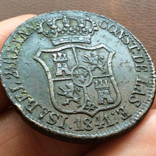 6 CUARTOS DE 1841 - ISABEL II - CECA DE BARCELONA  [1]