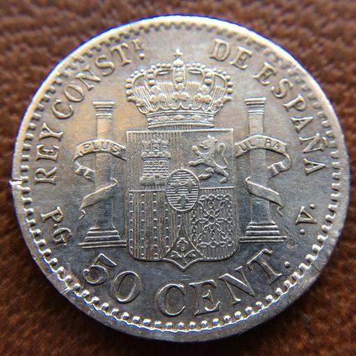 50 CÉNTIMOS PLATA 1896 - ALFONSO XIII [1]