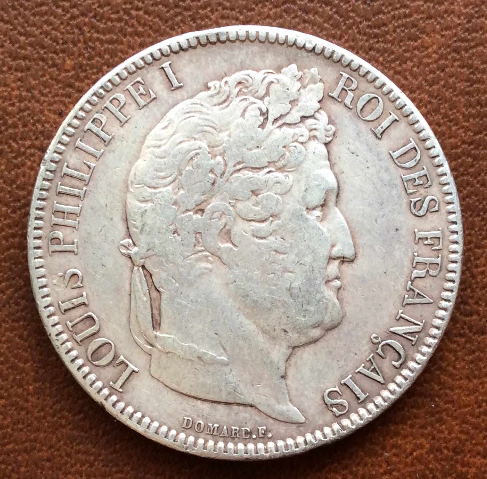 5 FRANCOS DE PLATA DE 1831 - LUIS FELIPE I - FRANCIA