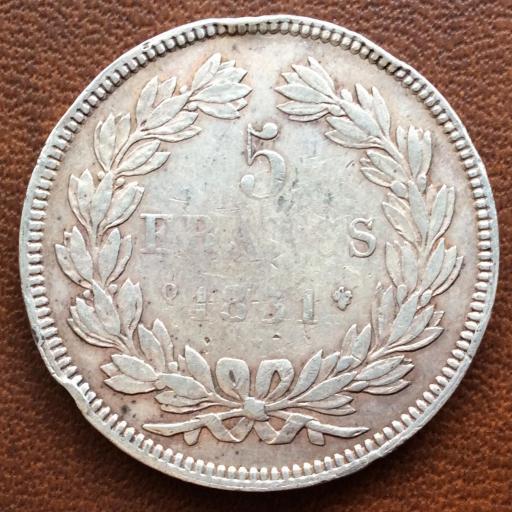 5 FRANCOS DE PLATA DE 1831 - LUIS FELIPE I - FRANCIA  [1]