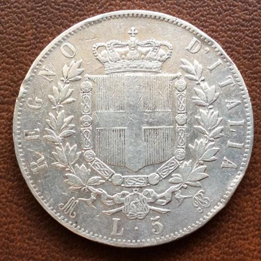 5 LIRAS DE PLATA DE 1873 - VITTORIO EMANUELE II - REINO DE ITALIA  [1]
