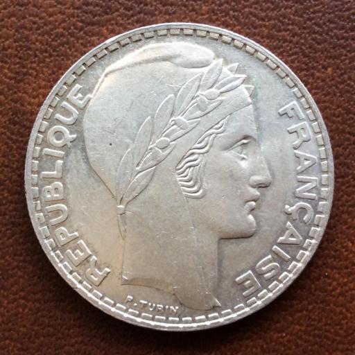 20 FRANCOS DE PLATA DE 1938 - REPUBLICA FRANCESA - SIN CIRCULAR  [2]